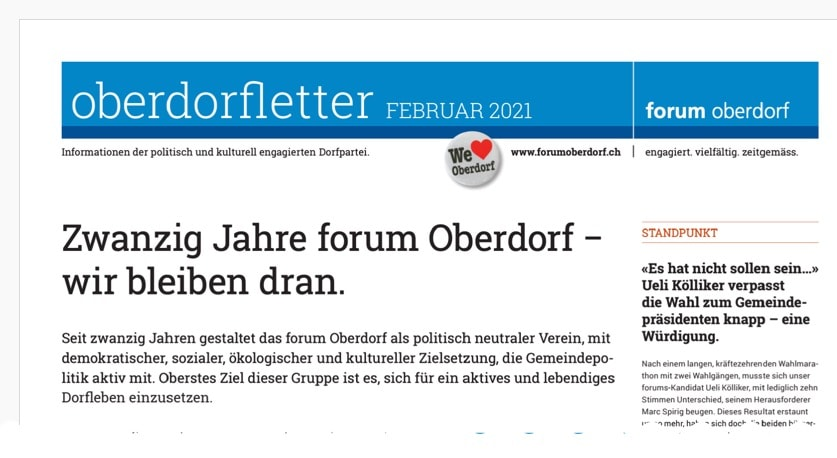 Oberdorfletter 2/21